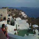 The picturesque cliff-top village of Oia